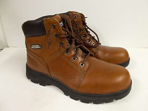 Men's Skechers Work Relaxed Fit Workshire Steel Toe Boots Brown Size 10M
