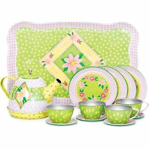 Children S Tin Tea Set Role Play Game Toy Gift Classic