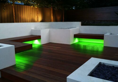Zento Deals 8 Pk of Trimmable 30cm Green LED Car Flexible Waterproof Light Strip
