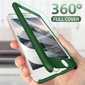 360°Full Cover Phone Case+Tempered Glass For iPhone 12 Pro Max Mini 11 XS XR 8 7