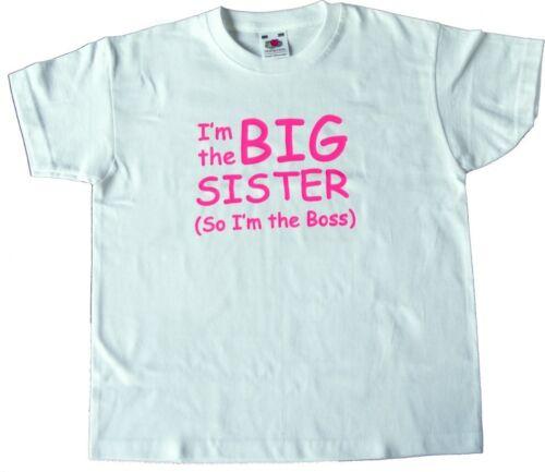 quindi sono il capo T-shirt 6 Taglie Ragazzi//Ragazze T-shirt sono il fratello//sorella maggiore
