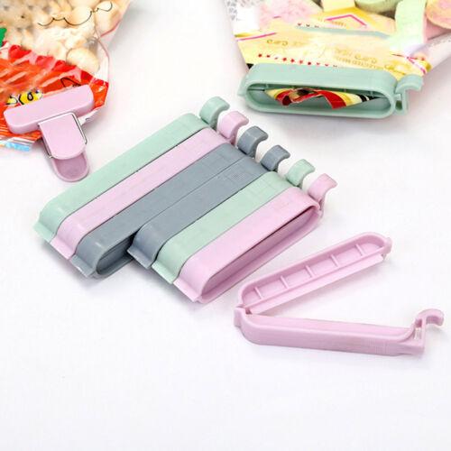 3//5//12 pcs Bag Clips Snack Fresh Food Clip Storage Bag Sealer Mini Vacuum Clamp