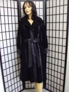 Jacket Lamb 4 Mint Persian Woman Leather Black Small Fur Women Coat Sz And qHTPYHa