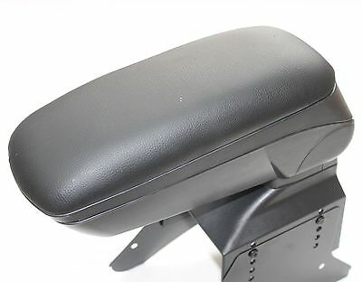 UNIVERSAL ARMREST CONSOLE FOR CAR VAN BUS NEW FITS MOST CARS BLACK LEATHER Nobox