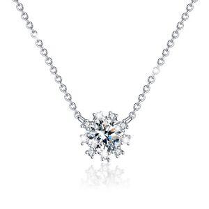 FASHION ATTITUDE 18k white gold gp made with SWAROVSKI crystal pendant necklace