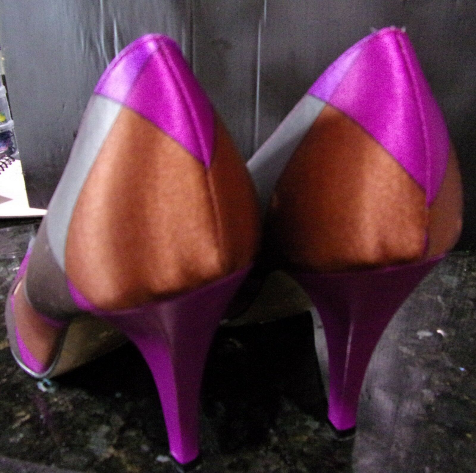 Emillio Pucci firma Satén púrpuraa MultiColor Stiletto Zapatos 37.5 Italia Italia Italia Lux 811d84