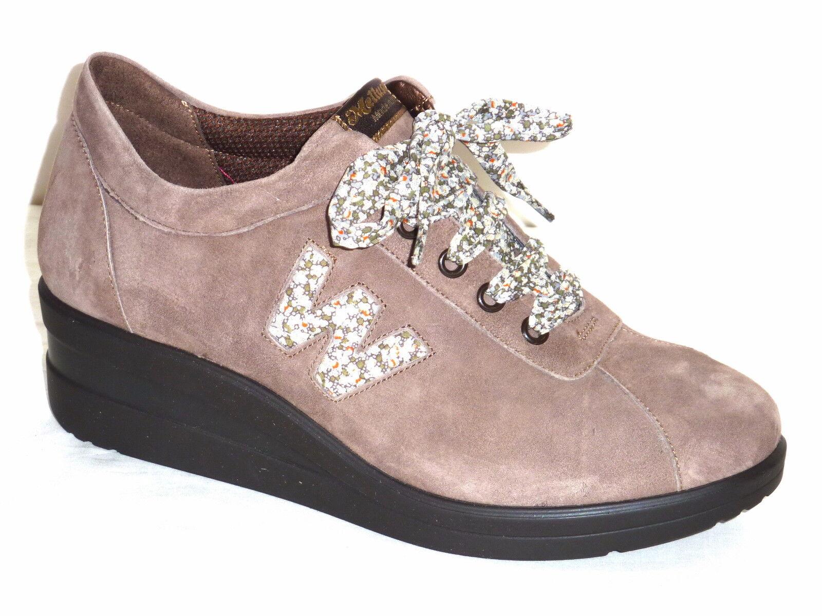 Los últimos zapatos de descuento para hombres y mujeres Barato y cómodo R0880 MELLUSO MUJER ZAPATILLAS DE DEPORTE PIEL NOBUCK COLOR CASTOR TENIS MODE