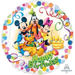 "18/"" FOIL BALLOON HAPPY BIRTHDAY PARTY DISNEY MICKEY MOUSE PORTRAIT"