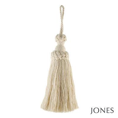 Natural cotton key tassel - Classic decorative fabric trim Large 22cm inc loop