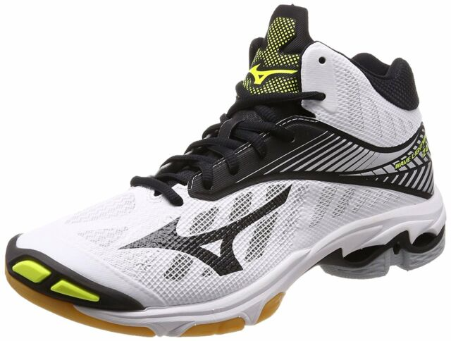 size 40 71f06 146ce MIZUNO Volleyball Shoes Wave Lightning Z4 MID White Black Yellow US9(27cm)