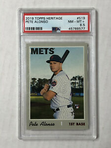 PETE ALONSO 2019 Topps Heritage HIGH # SP RC #519! PSA NM-MT+ 8.5! METS! INVEST!