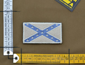 Ricamata-Embroidered-Patch-034-Dixieland-Flag-034-Subdued-with-VELCRO-brand-hook