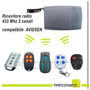 Ricevente Radio Ricevitore 433 Mhz 2 Canali Compatibile Con Avidsen Prix De Vente Directe D'Usine