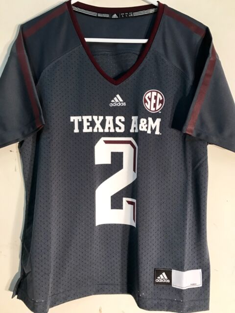 finest selection f45d2 b8a9c adidas Women's NCAA Jersey Texas A&m Aggies #2 Johnny Manziel Grey Sz M