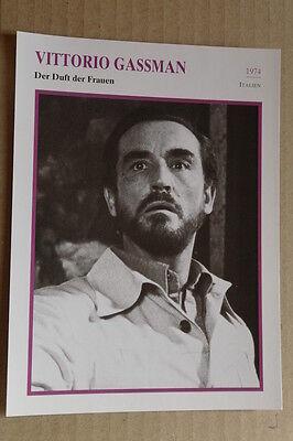 (s36) Starfilmkarte - Vittorio Gassman - Der Duft Der Frauen