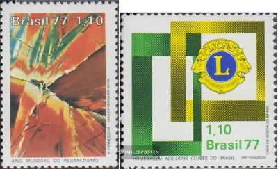 kompl.ausg. Postfrisch 1977 Rheumatismus Brasilien 1585,1586 Lions-club