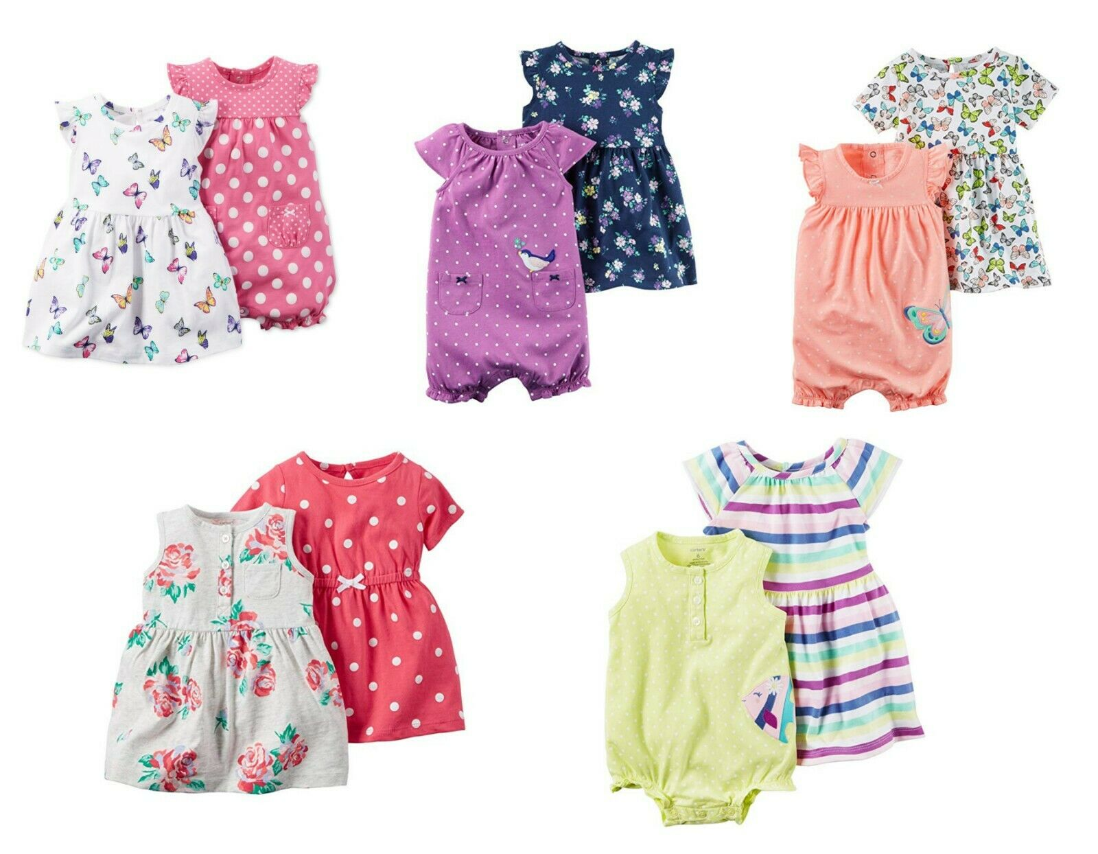 NWT NEW Carter/'s Baby Girls 2 Piece Dress Outfit Set