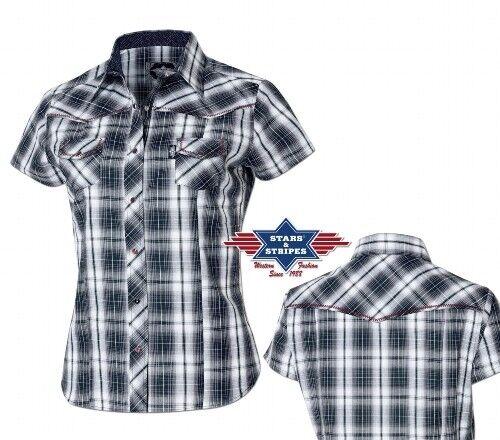 Chemises country western ref  LARISSA Stars&Stripes PROMO