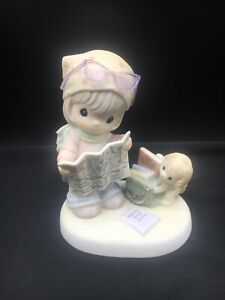 Precious Moments Figurine - Map A Route Toward Loving, Caring And Sharing ~