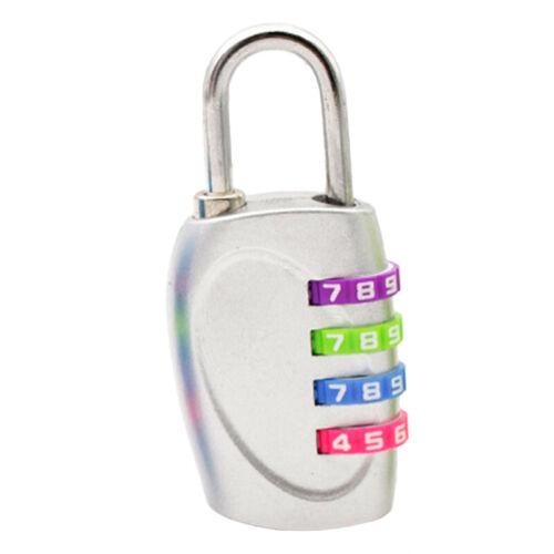 Fashion Resettable 4 Digit Combination Lock Travel Luggage Suitcase Code Padlock