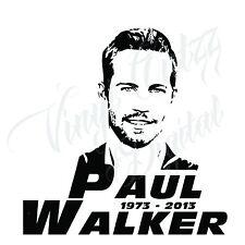 "PAUL WALKER NOVELTY ""PORTRAIT"" CAR BIKE VAN VINYL DECAL STICKER 16x16cm aprox"