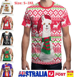2019 Men Women Ugly Christmas T Shirt 3D Print Graphic Short