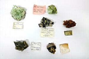 6-verschiedene-Mineralien-Calcit-Apophyllit-Gips-Baryt-Aragonit