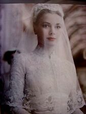 Rare  Still  GRACE KELLY WEADING GOWN COLOR