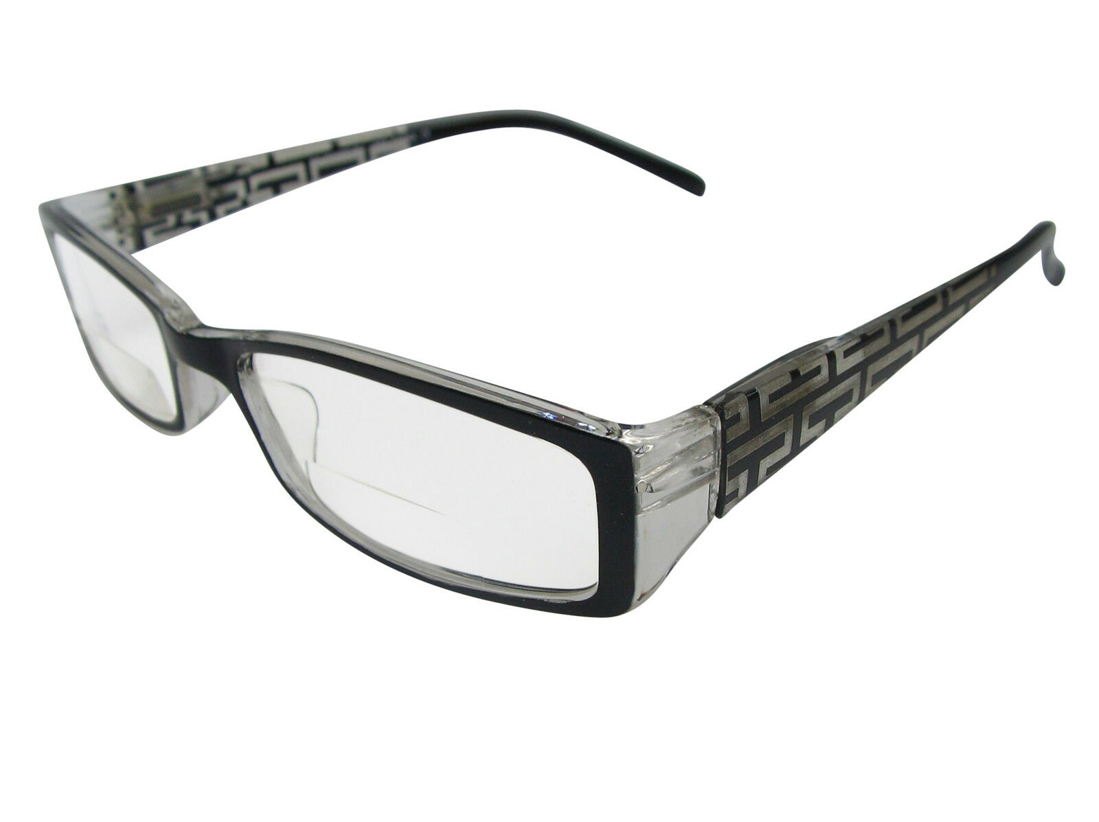 1b18326a70 Black Bifocal DESIGNER Inspired Reading Glasses Spring Hinges ...