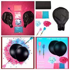"2 HUGE 36/"" Gender Reveal Black Latex Balloon /""Pink or Blue which is True /"""