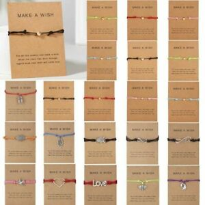Fashion-Friendship-Make-a-Wish-Heart-Rope-Bracelet-Bangle-Couple-Card-Jewelry