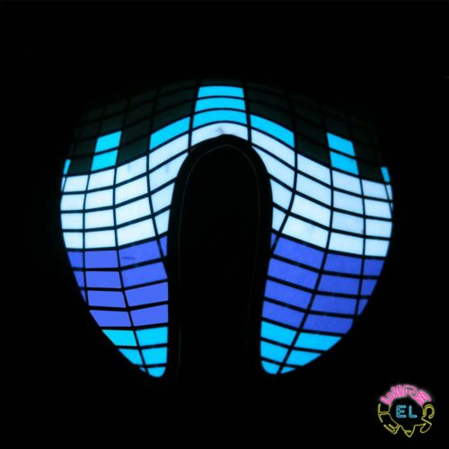 Sound Activated Driver festival White Equalizer Mask Purple Glowing Blue