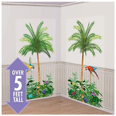 Palm Trees Scene Setter Wall Decorations 2pc Birthday Party Supplies Luau Ebay