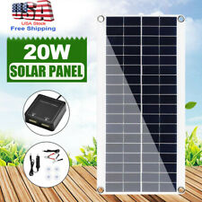 20 W Solar Panel 12v Trickle Charge Battery Charger Kit Maintainer Marine Rv Car