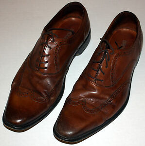 0e029bd3bc0 Broletto Mens Brown Leather Brogue Shoes Size 9.5 M Made in Italy