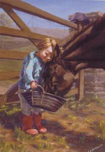 Shire Horse Suffolk Punch Farming Traditional Christmas Xmas Card
