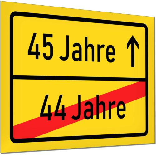 45 Birthday Decoration Gift traffic sign shield Party Woman Man