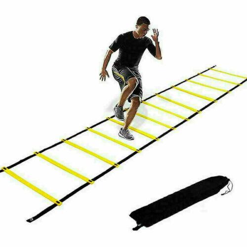 6M Nylon Straps Training Speed Agility Soccer Ladder Fitness Footwork Football