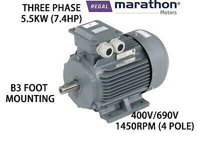 THREE PHASE ELECTRIC MOTOR 400V//690V REGAL BELOIT MARATHON 5.5KW 7.4HP