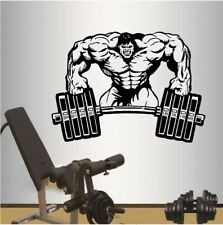 Gym Bodybuilding Hantel Fitness Wandtattoo Wallpaper Wand Schmuck 55 x 66 cm