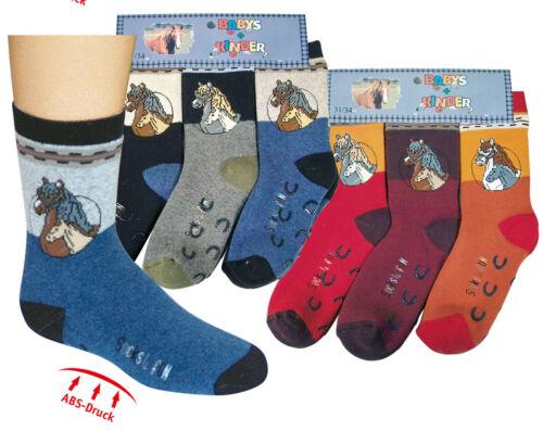 Homesocks Anti-Rutsch Socken mit  Baumwolle für Kinder mit Pferdemotiv