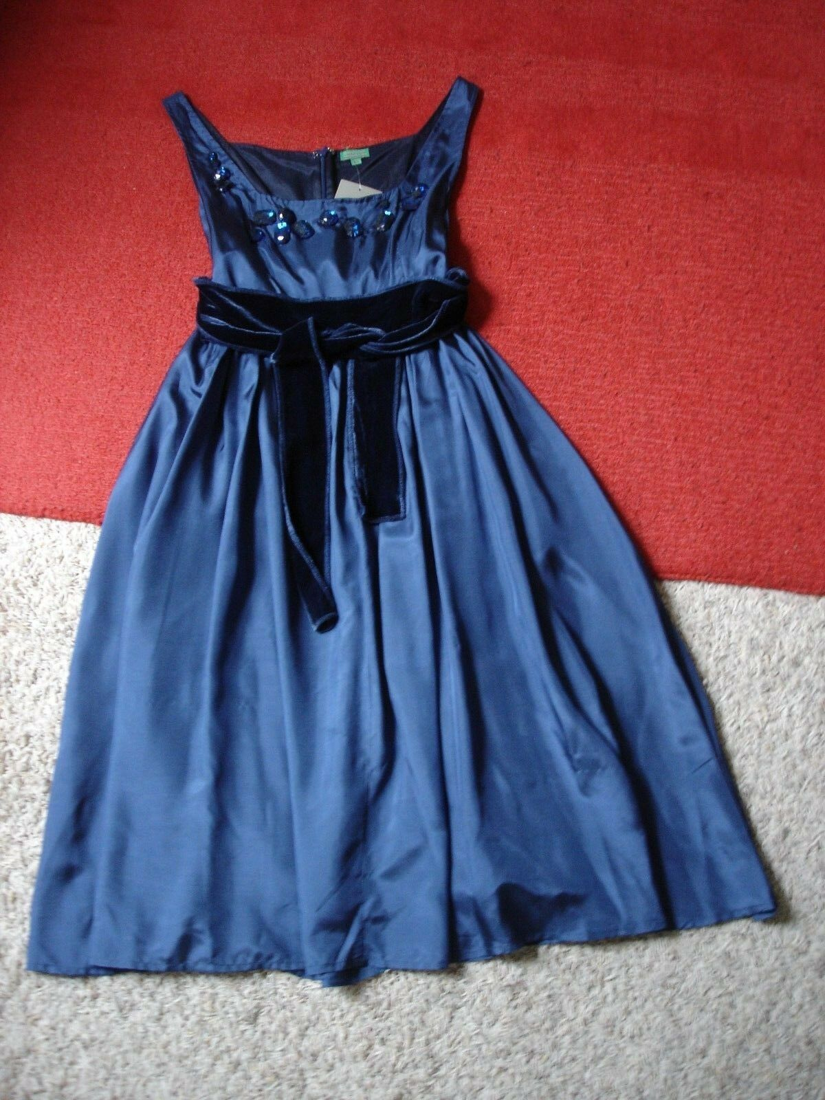 NWT Chan Luu 100% Silk Faux Gem Embellished Evening Sleeveless Tank Dress XS NEW