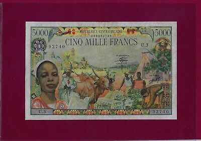 Central African Republic 5000 FRANCS 1980 P-11 VF++ AFRICA WEST EQUATORIAL