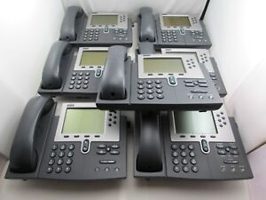 Details about Lot of 6 Cisco CP-7940G Unified IP Phone VoIP Telephone +  Coil Cord + Handset