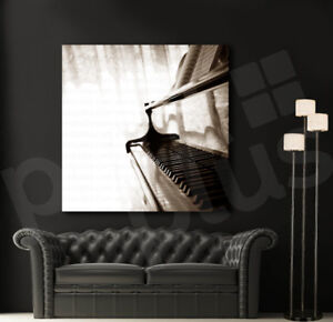 Grand Piano Close Up Music Art Canvas Poster Print Home Wall Decor ...