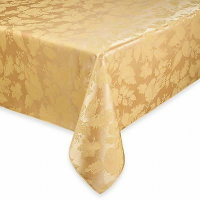 """Gold Harvest Valley 52/"""" x 70/"""" Oblong Damask Tablecloth Cotton//Polyester"""