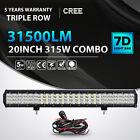 315W 20inch CREE LED Work Light Bar Combo Offroad Pickup SUV 4WD Truck JEEP ATV