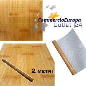 Carta adesiva rotolo legno bamboo parquet mensole for Carta adesiva cucina