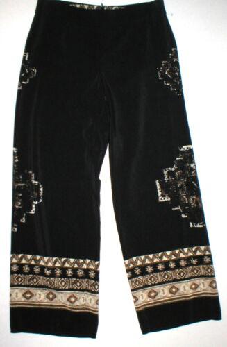 Wide Border 498 New Brown Print Pants Sort Kvinders York Ethnic 6 Silk værdi Usa qOxntAPF