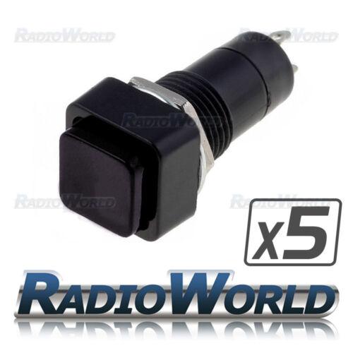 5x Nero Quadrato Rocker Interruttore ON//OFF SPST 12 V Auto Furgone Dash Luce 3 A @ 125 V